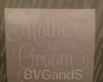 Mother of the Groom-Wedding Gift Box/Bag Decal