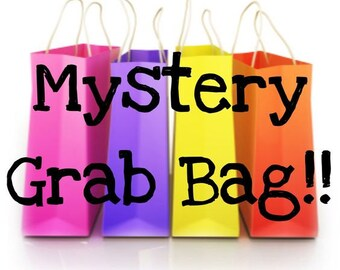 Mystery grab bag, surprise bag, mix items bag