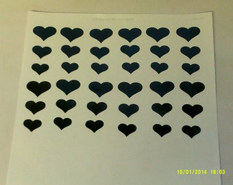 Heart stickers (3 sizes - mixed)       girls children