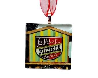 Lou Malnati's Pizzeria - Handmade Glass Photo Ornament