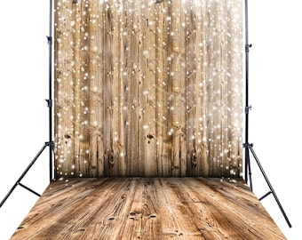 Vintage Wood fence Backdrop, Weathered Painted old wood Floordrop Photography vinyl background photo prop XT-2661