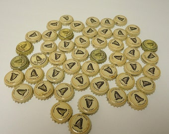 guinness extra stout beer bottle caps blonde lot,guinness decor gift,beer tops crowns.49 total