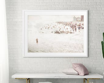 Beach Photography // Minimalist Art // Brooklyn Mermaid // Large Living Room Art // Large Wall Art for a Modern Home // Beach Photography