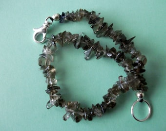 Gemstone Jewelry Bracelet - Smoky Quartz Gemstone Chip Beaded Bracelet