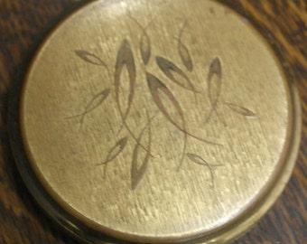 vintage stratton brass compact