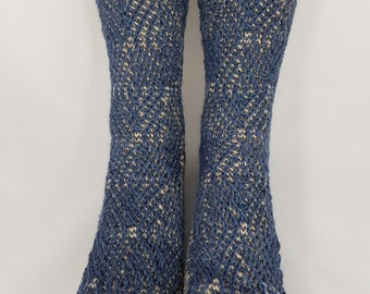 "Hand Knitted Socks ""JULEX"", knitted socks, wool socks, Gr. 40/41, made of 4fädiger socks wool, two-coloured"