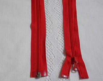 Fermeture éclair séparable 25 cm rouge vif