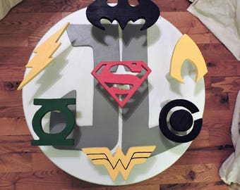 Justice League Table Handmade