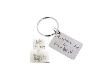 Fathers Day, Gifts for Dad, Father's Day, Gifts from Kids, Handwriting Keychain, Memorial Keychain, Handwriting, Step Dad, Unique Gifts