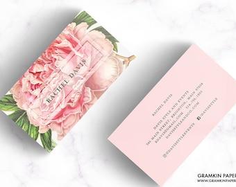 RACHEL BUSINESS CARD // Vintage, Botanical,Floral, Flower, Garden, Redoute, Business Card, Profile Card, Mommy Card, Calling Card