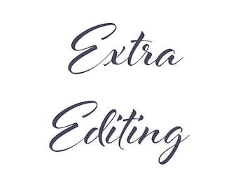 Extra editing