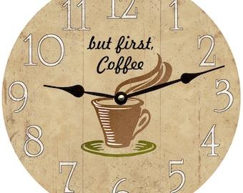 Coffee Clock/But First, Coffee Clock/Rustic Coffee Clock