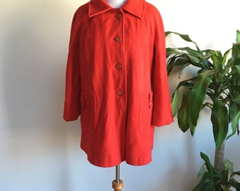 SALE | Swing Coat in Red | vintage 1980s
