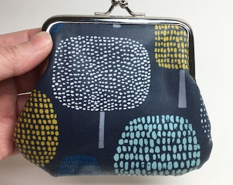 Kisslock Coin Purse - Trees