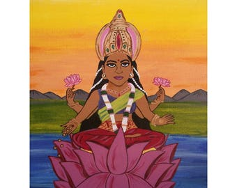 Goddess Lakshmi print
