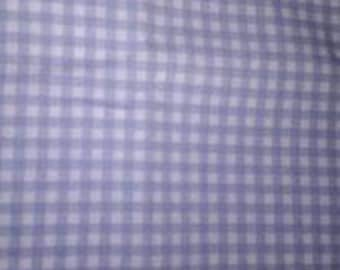 1.22 yards Purple Gingham Fabric