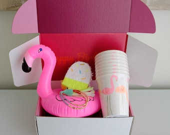 Flamingo Birthday Box Gift For Her Best Friend Ideas Sister Girlfriend 25th 21st