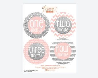 The Jane | Baby Girl Monthly First Year Sticker Set, Gemma & Co, Gemma and Co
