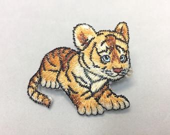 Tiger Cub Barrette, Animal Barrette, Girl Barrette, Tiger French Barrette, Applique Tiger Clip, Tiger Barrette
