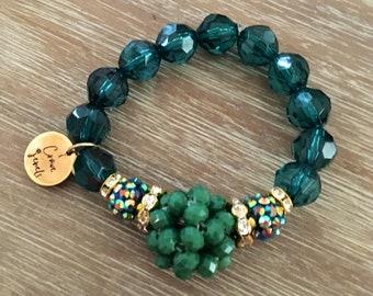 Stretch Bead Bracelet – Large Bead Bracelet Gold Bracelet, Our Top Selling Bracelet for Spring 2018