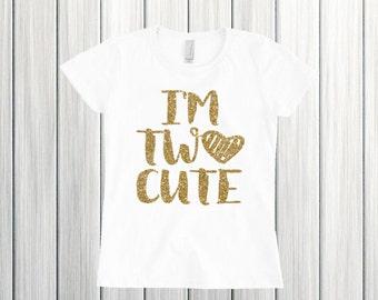 I'm Two Cute Birthday Shirt Second Birthday Shirt Two Birthday Shirt 2nd Birthday Shirt Birthday Shirt 2nd Birthday Outfit Two Shirt