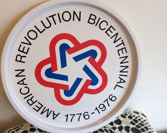 Vintage American Revolution Bicentennial Tray