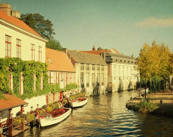 Brugge Belgium Europe Architecture Building River Boats - River Taxis Stand