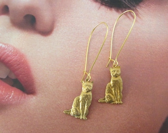 Golden Cat earring