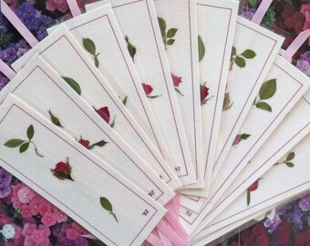 Bookmarks Pressed Flower Laminated Bookmarks Pink Bookmark Book Accessory Gift For Garden Lovers Bookclub Gift