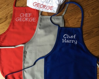 Child's / Boy's / Girl's/ Chefs Apron & Hat Set