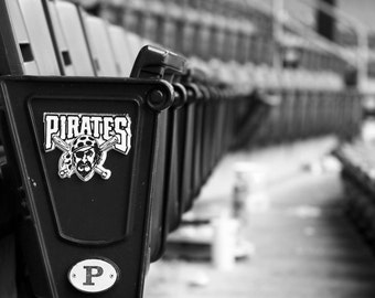 Pittsburgh Pirates Seats, 8x12, black and white, fine art print, PNC Park