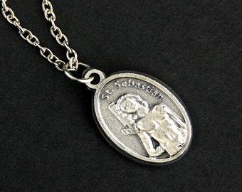 Saint sebastian etsy saint sebastian necklace aloadofball Images