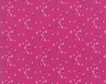 Spectrum Triangles MAGENTA by V and Co. from Moda - 1/2 yard