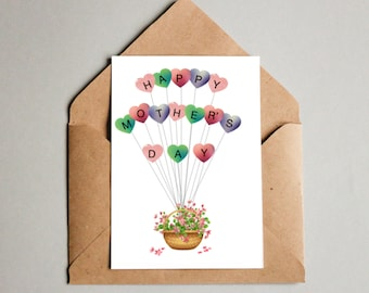 Happy Mothers Day Balloon Card