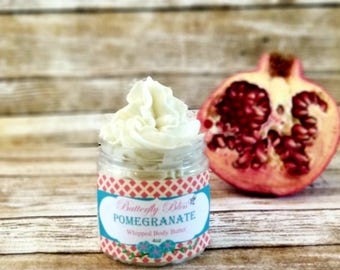 Whipped Hand Cream   Pomegranate Lotion   Natural Body Butter   Whipped Body Butter   Pomegranate body butter   Natural Lotion   foot cream