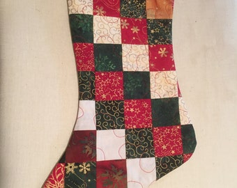 Quilted & Embroidered Christmas Stockings