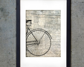 Bicycle End - Industrial PRINTABLE - Art Print 5 X 7 - Vintage Downloadable Digital