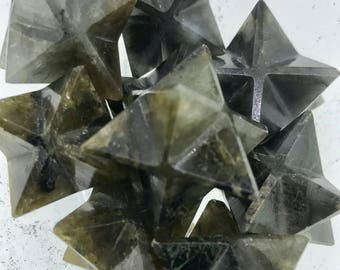 Labradorite Merkaba - Root Chakra - Solar Plexus - Reiki - Energy Healing - Sacred Geometry - Tetrahedron