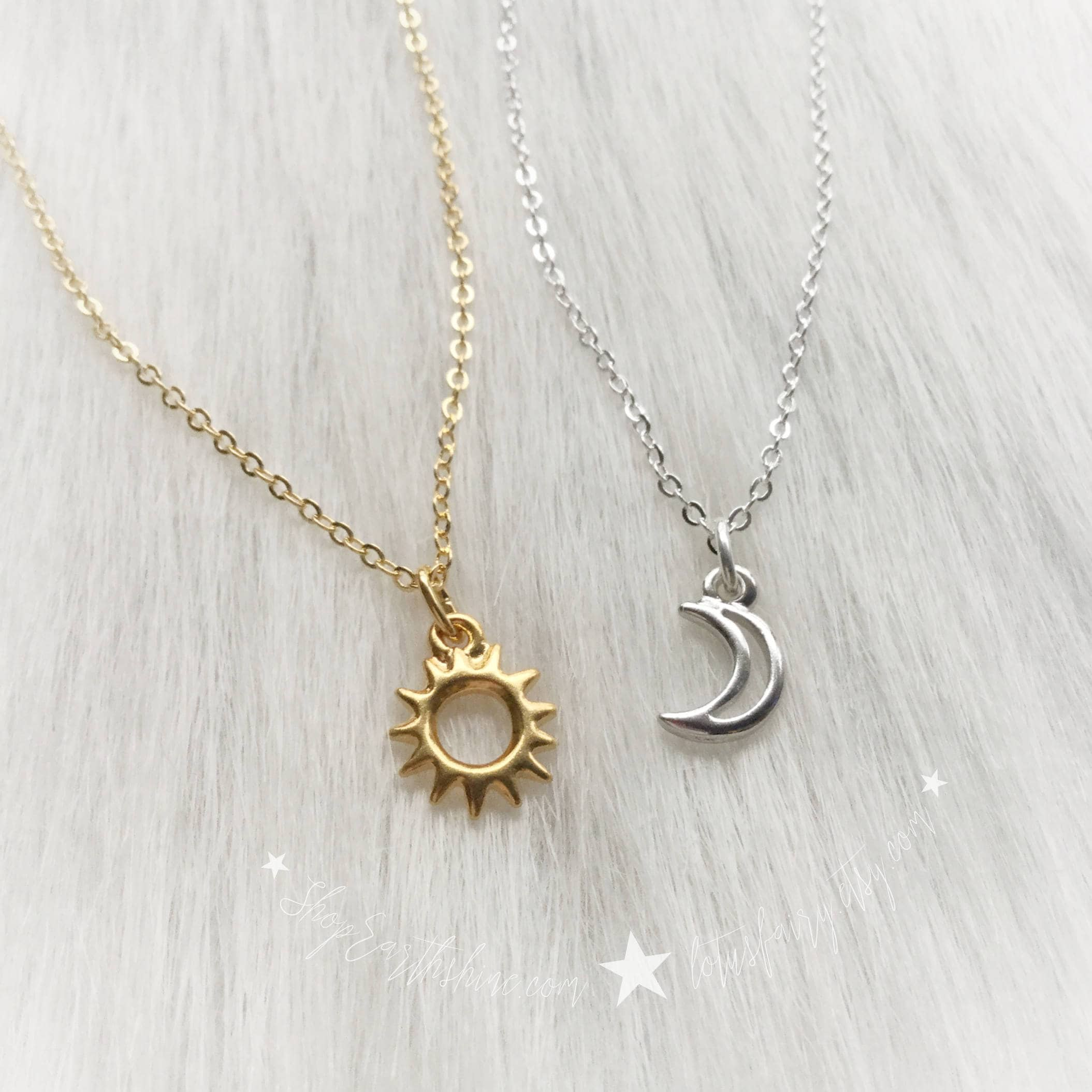 moon sun and antique gold necklace burnished silver us pendant
