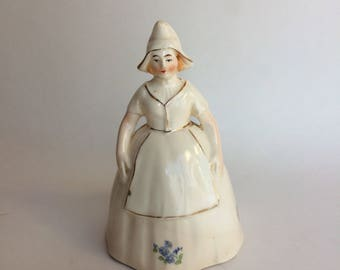 Made in Czechoslovakia Ceramic Milk Maid Dinner Bell