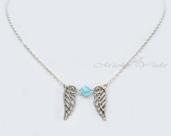 Final Fantasy VIII Inspired Rinoa Heartilly Wing Crystal Necklace