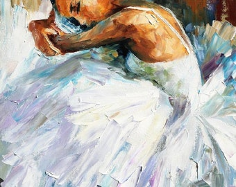 Ballet Fine Art Dancer Oil Painting On Canvas By Leonid Afremov - Ballerina 2