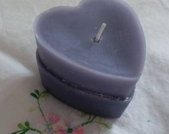 Heart duo lilac and lavender candle