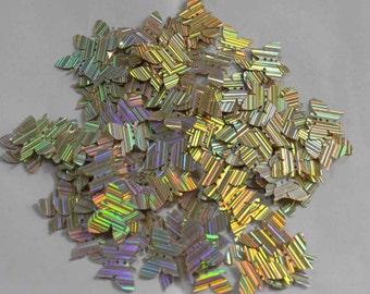 100 Butterfly Sequins/Metallic Golden /Lines Texture/ KBIS643