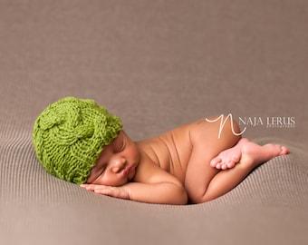 Newborn Hat Pattern, Knitting Pattern Hat, Newborn Pattern Hat, Newborn Photo Prop, Knit Newborn Hat Pattern, Knit Baby Hat Pattern