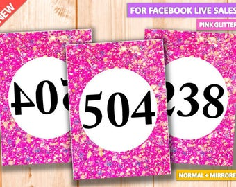 Facebook Live Sales, Mirrored & Normal Number Tag, 000-999, Reversed + Normal Numbers tags, Marketing, llr number tags,Home Office Approved