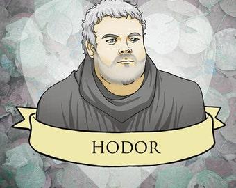 Hodor Valentine- Game of Thrones fan art original illustration print