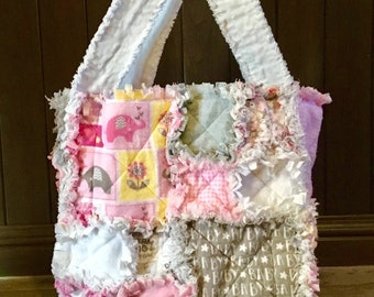 Diaper Bag, Baby Bag, Rag Bag, Baby Gift, Baby Girl, Handmade