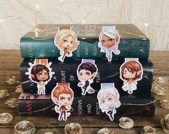 Seven High Lords of Prythian Magnetic Bookmarks   ACOWAR   ACOMAF   ACOTAR