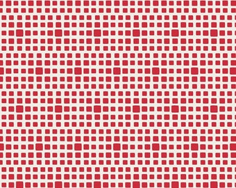 Pomegranate Squared Elements Check Squares By Art Gallery Fabrics